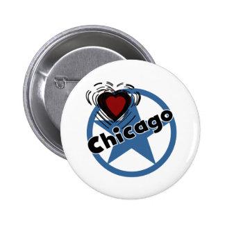 Love Chicago 2 Inch Round Button