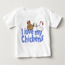 Love Chickens Baby Shirt