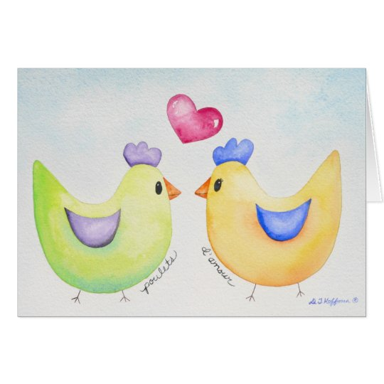 Love Chickens card