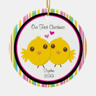 Love Chicks Couple Christmas Ornament
