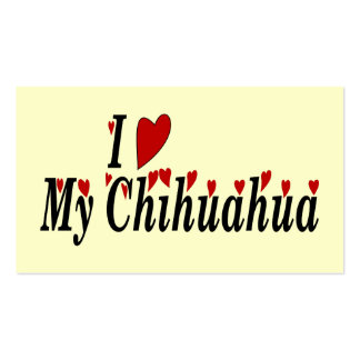 Love Chihuahua Business Card