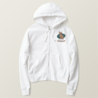 Love Chihuahua Embroidered Hoodie