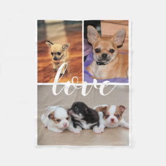 Love Chihuahua Photo Fleece Blanket