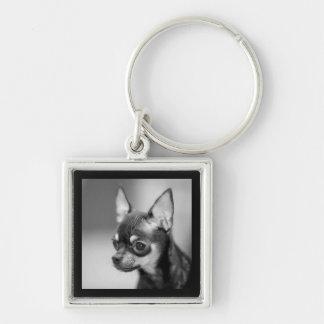 Love Chihuahua Puppy Dog Black And White Keychain