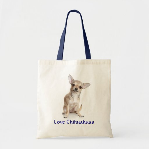 Love Chihuahuas Canvas Budget Tote Bag