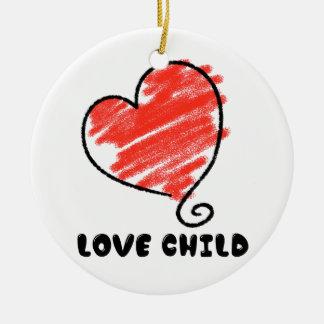 Love Child Ceramic Ornament