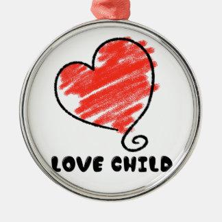 Love Child Metal Ornament