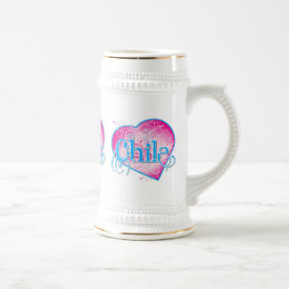 LOVE Chile !!! Beer Stein
