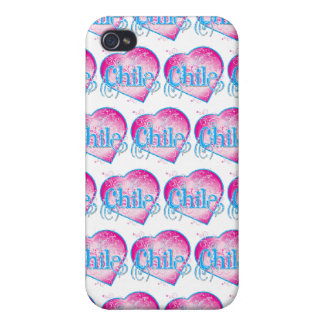 LOVE Chile (heart pattern) Case For iPhone 4