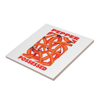 Love Chili Peppers Tile