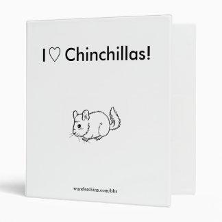Love Chinchillas WunderChins Binder