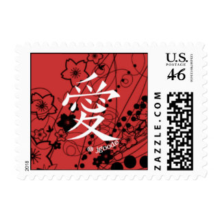Love Chinese Character Postage Stamp