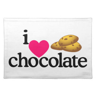 Love Chocolate Cookies Cloth Placemat