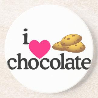 Love Chocolate Cookies Drink Coasters