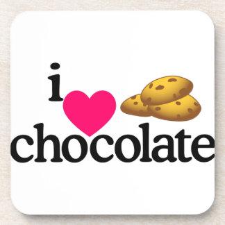 Love Chocolate Cookies Beverage Coasters