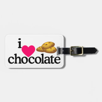 Love Chocolate Cookies Luggage Tag