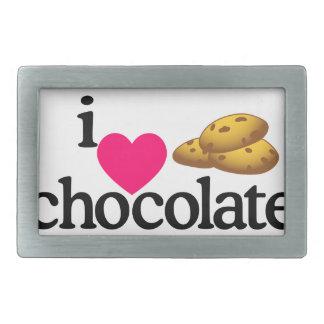 Love Chocolate Cookies Rectangular Belt Buckle