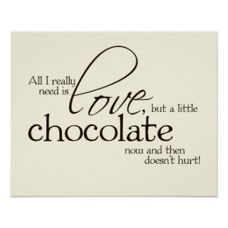 Love Chocolate Poster