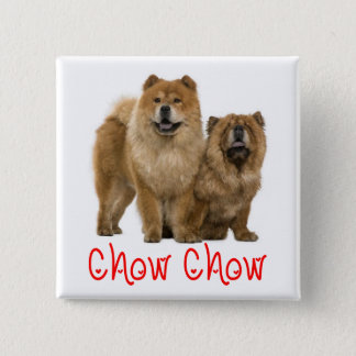 Love Chow Chow Puppy Dog Button Pin