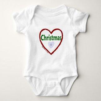 Love Christmas Baby Bodysuit