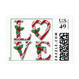 Love Christmas Card Postage | Love Stamps