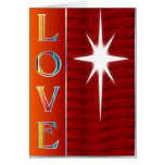 Love Christmas Card Red