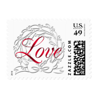 Love Christmas Greetings Card Stamps