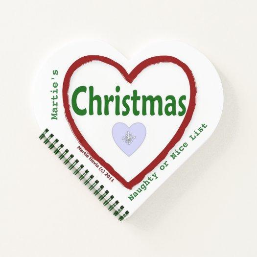Love Christmas (Heart-Shaped) Spiral Notebook