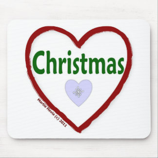Love Christmas Mouse Pad