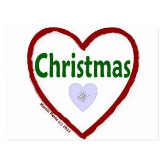 Love Christmas Postcard