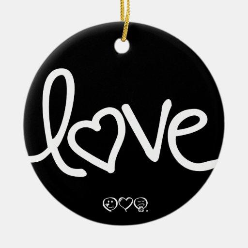 love christmas tree ornament