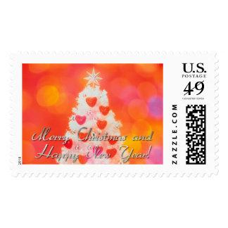 love christmas tree postage stamps