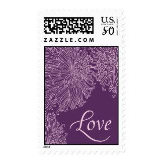 Love Chrysanthemum Purple Postage