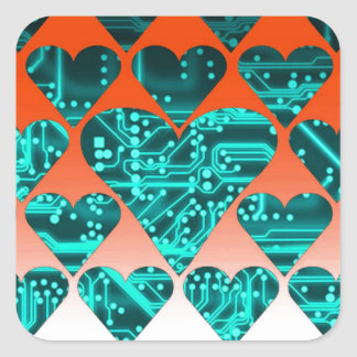 love circuit cyan stickers