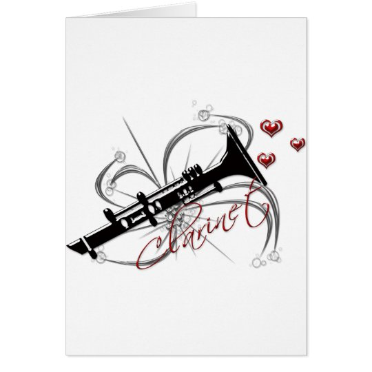 Love Clarinet Card