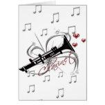 Love Clarinet Greeting Card