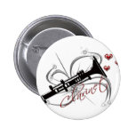 Love Clarinet Pinback Buttons