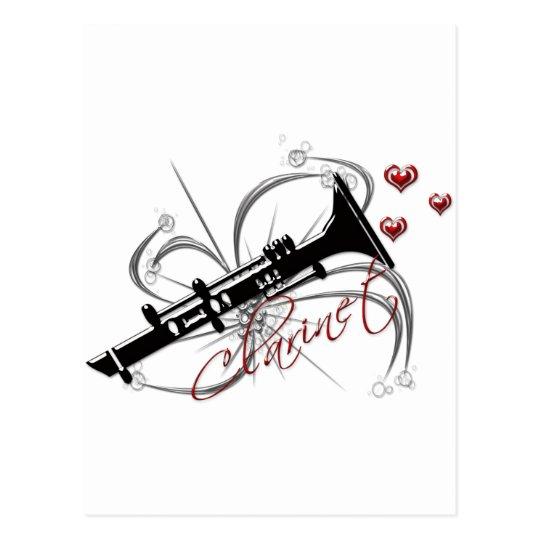 Love Clarinet Postcard