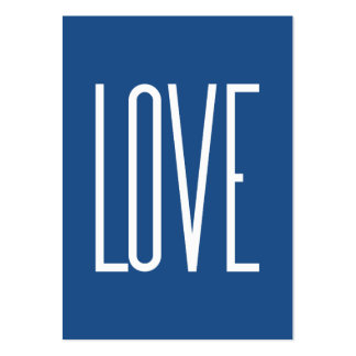Love Classic Blue Large Business Card