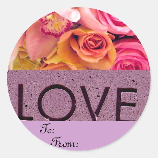Love_ Classic Round Sticker