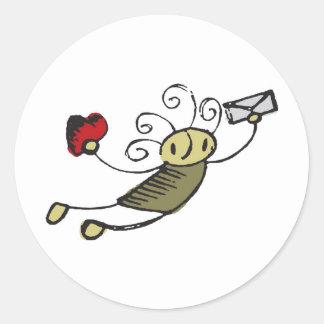 Love Classic Round Sticker