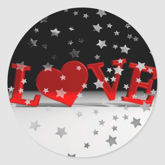 Love Classic Round Sticker