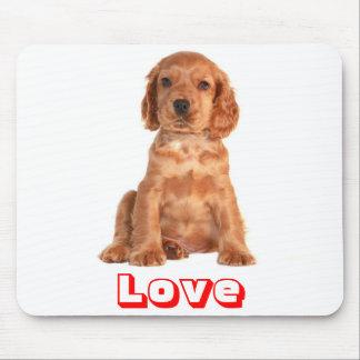 Love Cocker Spaniel Puppy Dog  Mousepad