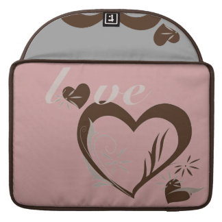 Love Cocoa Hearts Sleeves For MacBook Pro