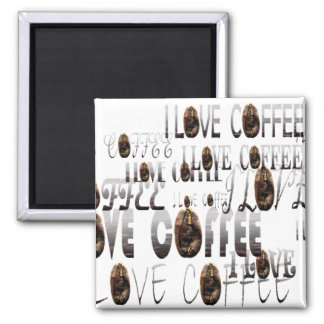 LOVE Coffee 2 Inch Square Magnet