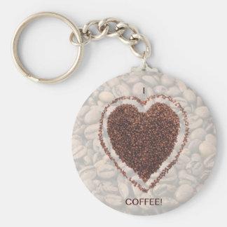 Love Coffee Basic Round Button Keychain