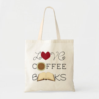 Love, Coffee, Books Tote Bag