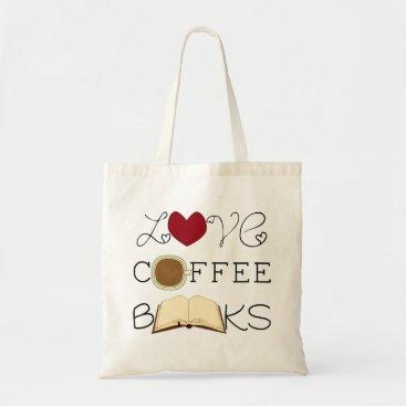 Coffee Themed Love, Coffee, Books Tote Bag