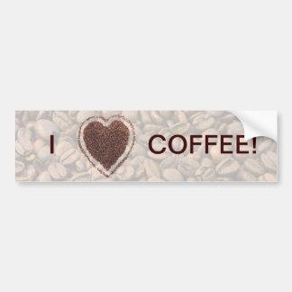 Love Coffee Bumper Sticker