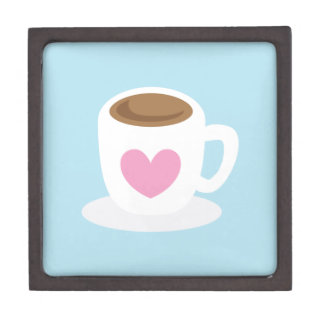 LOVE COFFEE coffee cup with a love heart Gift Box
